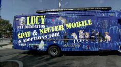 """The Lucy Pet Foundation Van Tour with Joan Rivers. The Lucy Pet Foundation Spay & Neuter Van Tour with Joan Rivers, Joey Herrick and Karen """"... Donate to help these great people reach animals all over the USA!  Lowering the homeless & poor pet population lowers the chances of their cruel gassings and euthanasia at America's cruel dog & cat pounds!  These people can do the spay & neuters for free for those poorer families that cannot afford to spay and neuter. Spread the word!"""