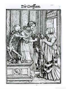 Death and the Mistress, from The Dance of Death, c.1538  by Hans Holbein the Younger