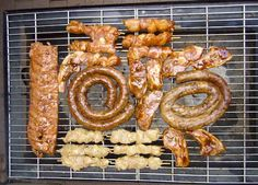 Braai or braaivleis (S. African barbeque)  With the excellent weather in that part of the world, any time was time for a braai.  Various kinds of meats were grilled, but always included was boerewors - everyone's favorite.  Hamburgers are almost totally unheard of at a S. African braai.