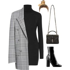 A fashion look from December 2017 featuring Equipment dresses, Alexander Wang blazers and Louis Vuitton ankle booties. Browse and shop related looks.