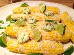 Neurotic Kitchen : Simply Summer - Corn With Garlic Jalapeño Lime Butter + Queso Fresco Summer Fitness, Vegetable Sides, Garlic Butter, Kitchen Recipes, Veggie Recipes, Finger Foods, Fresco, Spice Things Up, Mushrooms