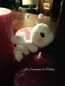 #madeinfacebook #lemaddine #lecreazionididebbie @denizeler  #handmade #handcrafted #handmadeinitaly #sewing #embroidery #pannolenci #cute #ant #animal #little