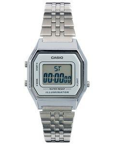 e12613e8b9a Casio LA680WEA Mini Digital Silver Watch Digital Wrist Watch