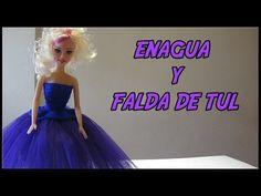Vestido Rosa-Morado con Diadema y Bolso a crochet para Muñeca - YouTube