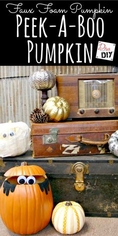 Add a little whimsy to your fall decor with a googly-eyed pumpkin. The perfect…
