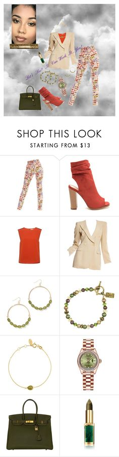"""Work It!"" by sinmrn ❤ liked on Polyvore featuring Versace, Finders Keepers, Giorgio Armani, New York & Company, Charming Life, Latelita, Rolex, Hermès and L'Oréal Paris"
