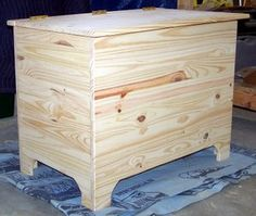 This pocket hole blanket chest plan