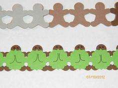gingerbread border with frame chain on top to make turtles!