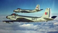 The McDonnell Banshee was the only carrier-based air defence jet fighter used by the Royal Canadian Navy (RCN) from 1955 to 1962 Royal Canadian Navy, Canadian Army, Military Jets, Military Aircraft, Fighter Pilot, Fighter Jets, Fixed Wing Aircraft, Airplane Fighter, Aviation Art