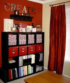 Scrapbook Storage for my craft corner. Love this color