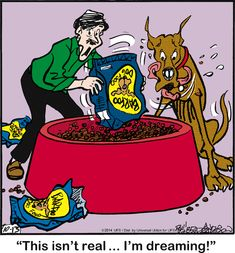 Today on Marmaduke - Comics by Brad Anderson Great Dane Funny, Great Dane Dogs, Funny Dogs, Tumblr Cartoon, Cartoon Dog, Dog Cartoons, Dog Quotes, Animal Quotes, Dog Sayings