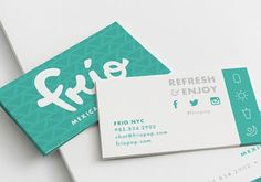Currently browsing Frio Mexican Popsicles for your design inspiration Bakery Business Cards, Real Estate Business Cards, Cool Business Cards, Business Card Design, Creative Business, Graphic Design Branding, Stationery Design, Creative Names, Name Card Design