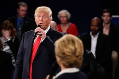 Fact: There was a lot of clutter, noise, and actual yelling during the second presidential debate. One may say there were NO winners that came out on top of the rubble. | People Are Calling This Guy Glaring At Donald Trump The Real Winner Of The Debate - BuzzFeed News