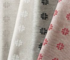 Hälsingeros Table cloth in pure linen.