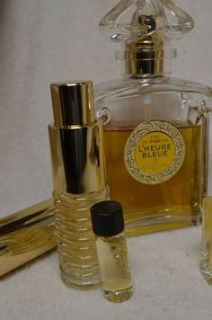 Vintage L'HEURE BLEUE by GUERLAIN Perfumes 37 ml by ChiChiPerfumes, $15.00