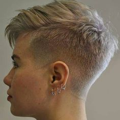 There is Somthing special about women with Short hair styles. I'm a big fan … There is Somthing special about women with Short hair styles. I'm a big fan of Pixie cuts and buzzed cuts. Enjoy the many different styles. Short Pixie Haircuts, Pixie Hairstyles, Short Hair Cuts, Pixie Cuts, Haircut Short, Buzzed Pixie, Shaved Pixie Cut, Short Shaved Hairstyles, Latest Haircut