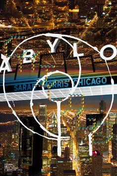 Sarah Morris Chicago Poster