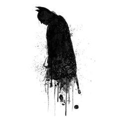 Why do we fall? #batman #watercolor #mixedmedia #photoshop