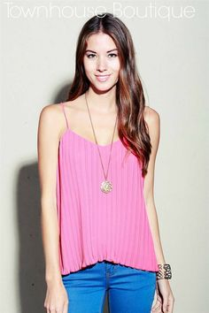 Pleated Tank Top! So classic and pretty!