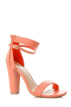 Bamboo Two Layered Ankle Strap Chunky Heel