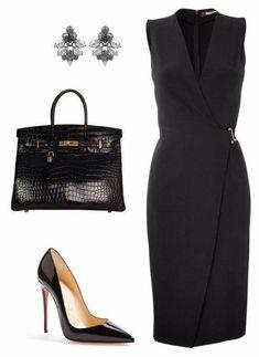 Для изящных женщин: 8 элегантных образов с черным платьем