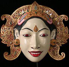 Balinese Masks - Mask of Sita from Bali