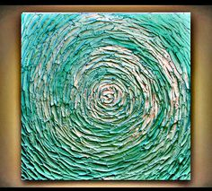 Original Abstract Handpainted Canvas Modern by angelacoxart