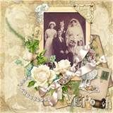 Premade Scrapbook Page 12 x 12 Vintage Floral by DianesNiceties