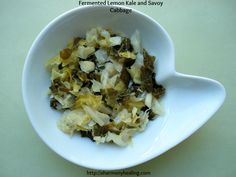 Fermented Lemon Kale and Savoy Cabbage - www.fb.com\wholefoodheals www.healthcoachcarrie.com