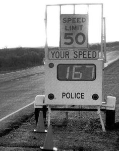 Yeah, this about sums me up. Never could go the speed limit.