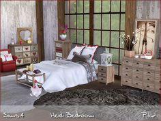 Sims 4 CC's - The Best: Heidi Bedroom by Pilar