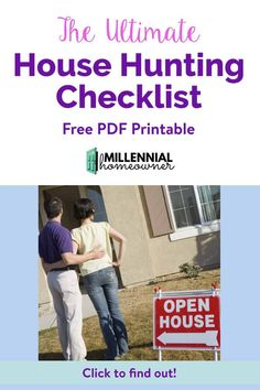 Buying a Home for the First time? Take your house hunting up a notch with this free house hunting checklist. It's a free PDF printable that you can use to compare and houses as you get ready to buy your first home. Home Buying Checklist, Moving Checklist, Home Buying Tips, Buying Your First Home, New Home Buyer, First Time Home Buyers, Looking For Houses, Good Credit Score, House Information