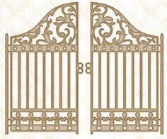 Blue Fern Studios - Chipboard - Grand Garden Gate,$6.49