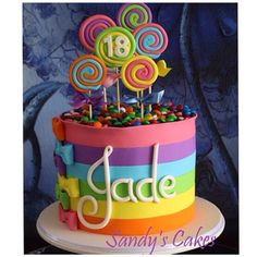 Bolo doces - candy cake