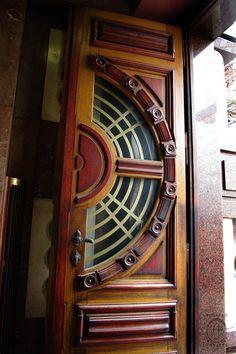 Prague, Czech Republic~PRG_Arch Deco, by Nouveau Voyages Cool Doors, Unique Doors, Art Nouveau Arquitectura, Art Deco Door, When One Door Closes, Knobs And Knockers, Door Gate, Art Deco Design, Windows And Doors