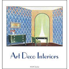 Art Deco Interiors 2013 Easel Desk Calendar
