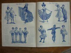 1905 GABY DESLYS COMMERE REVUE AU MUSIC HALL OLYMPIA BALLET ELECTRIQUE