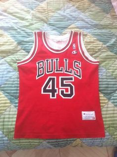 d968db60fff BASKETBALL SHIRT JORDAN CHICAGO BULLS NBA BASKET VINTAGE JERSEY CHAMPION  RARE