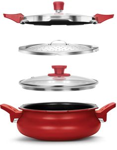 Buy Pigeon All In One Super Cooker, 3 Litres, Red Online at Low Prices in India - Amazon.in