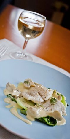 Turbot with Pak Choi and Cheese Sauce - The delicate flavour of the fish in this recipe is complemented beautifully by the creamy sauce - www.fishisthedish.co.uk/recipes/fast-fish/1422-turbot-with-pak-choi-and-cheese-sauce
