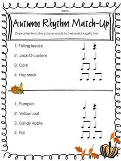 This FREEBIE is a fun back to school review of two beat rhythms.  It is a quick way to assess your students' memory of last year's material.  This worksheet can be printed in black and white or color.  Please rate me or leave feedback! Thank you!