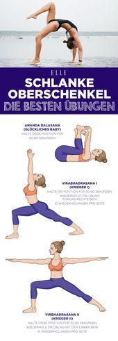 Thighs: 3 simple yoga exercises that help immediately - Fitness . - Thighs: 3 simple yoga exercises that help immediately – Fitness Tipps – - Fitness Workouts, Yoga Fitness, Fitness Goals, Fun Workouts, Fitness Humor, Fitness Quotes, Food Workout, Fitness Diet, Funny Fitness