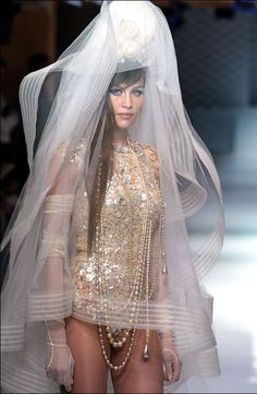 Laetitia Casta in Jean Paul Gaultier haute couture 2003