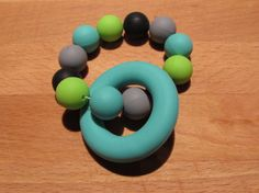 Silicone Teething Ring A beautiful colourful teether that your baby will love! The ring and beads are made from food grade Teething, Food Grade, Beads, Rings, Etsy, Beautiful, Beading, Ring, Bead