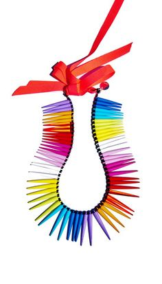 """'Life is the wonderful art of drawing without an eraser"""" #ohlala #collar #colourful €145"""