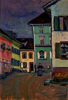 "Wassily Kandinsky — ""Murnau: Top of the Johannisstrasse"" (1908)"