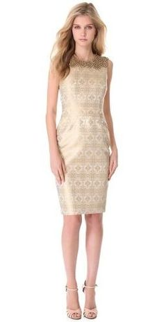 Vera Wang collection jeweled Yoke #Dress #fashion