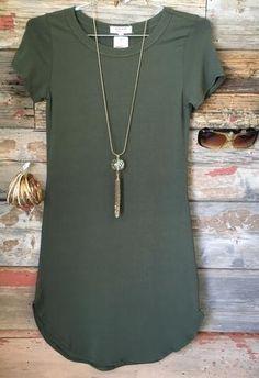Fun in the Sun Tunic Dress: Olive