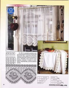 Crochet Curtain Patterns Part 8 - Beautiful Crochet Patterns and Knitting Patterns Crochet Curtain Pattern, Crochet Curtains, Curtain Patterns, Lace Curtains, Crochet Doilies, Crochet Lace, Crochet Bouquet, Valance, Crochet Designs