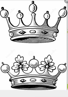 The Image Is A Vector Illustration And Can Be Used For Different Compositions. The Image Is An .eps File And You Will Need A Vector Editor To Use This File, Such As Adobe Illustrator. King Crown Tattoo, King Queen Tattoo, Crown Tattoo Design, Tattoo Stencils, Tattoo Fonts, Mini Tattoos, Body Art Tattoos, Tattoo Sketches, Tattoo Drawings